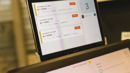 De digitale drukker digitaal drukwerk