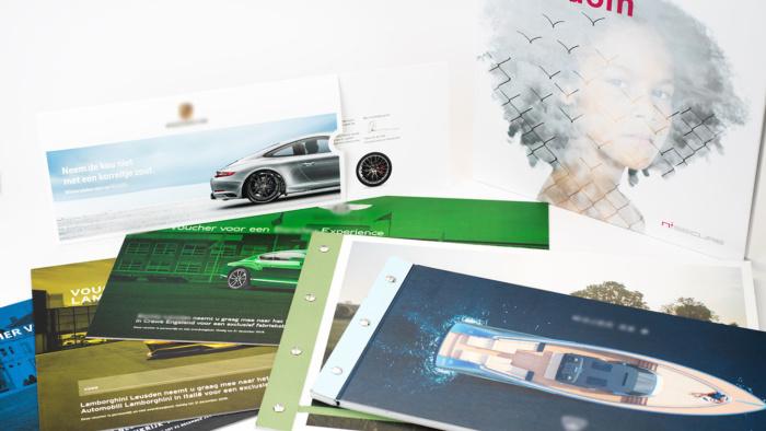 Verschillende luxe brochures
